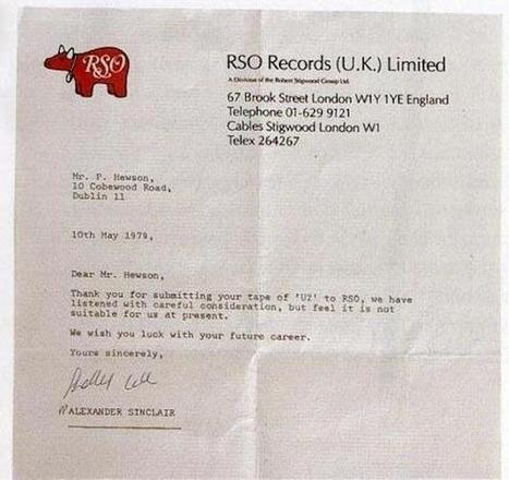 10 Rejection Letters Sent to Famous People | On the Records (Musically Speaking) | Scoop.it
