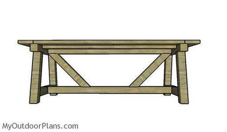 Farmhouse Dining Table Plans | MyOutdoorPlans | Free Woodworking Plans and Projects, DIY Shed, Wooden Playhouse, Pergola, Bbq | Garden Plans | Scoop.it