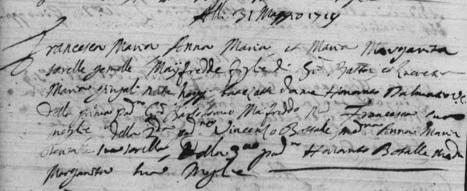 MAIORES NOSTRI: Des triplées à Nice en 1719 | GenealoNet | Scoop.it
