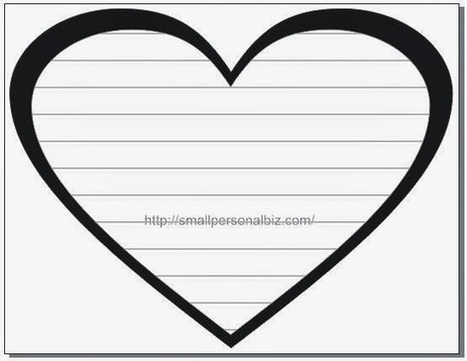 Free Love Heart Image Template with Text Box Lines for Writing Letter ... Animated Pink Butterflies