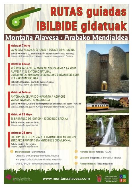 Rutas guiadas por Montaña Alavesa mayo 2016 | Mendialdea.info | Scoop.it