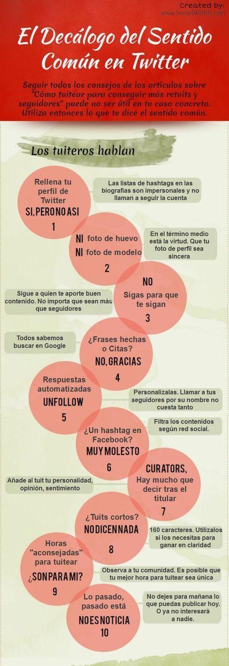 Una infografía con diez prácticas de sentido común para Twitter | Recull diari | Scoop.it