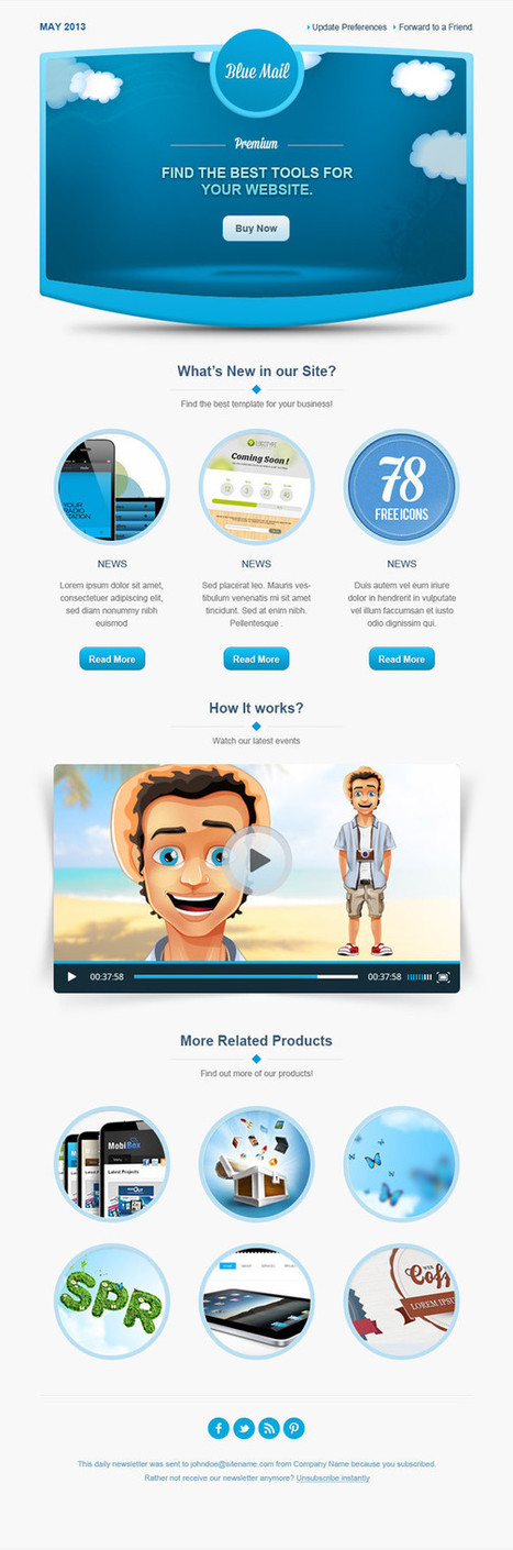 25+ Fresh Free And Best Responsive Email Newsletter Templates | Webtechelp | Scoop.it