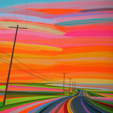 #Neon #Sunsets and #Technicolour #Landscapes Painted by Grant Haffner #art #painting | Luby Art | Scoop.it