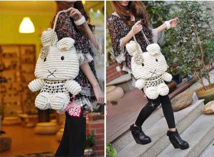 Big 2013 My Melody Bags DIY Weaved Cute Lady Accessory Beige Red [women-bags-027] - $169.00 : Hello Kitty Bags For Ladies, Anteprima Bags Style Stereo Hello Kitty Bags ,Panda Bags , Diamond Bags Fo... | Amazing Hello Kitty Bags | Scoop.it