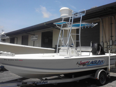 Boat Accessories Made with Custom Aluminum Fabrication such as Boat Leaning Posts in Sarasota, FL | Small Boat | Scoop.it