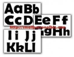 Free Printable Alphabet Templates for Kids Stencil Craft Collection | Free Printable Template to Download | Scoop.it