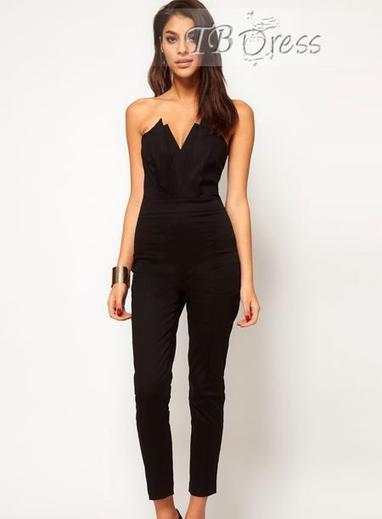 $ 32.59 Sexy Black Strapless Women's Jumpsuit | fashion | Scoop.it