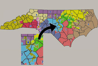 "North Carolina: ""Most gerrymandered state"" 