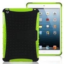 MiniSuit Rugged Rubberized Case + Kickstand for iPad Mini (High Impact, Green Pattern) | Nexus 7 Case | Scoop.it