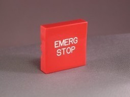 """000179 """"EMERGENCY STOP"""" Plastic Button only 