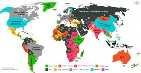 """This map shows which export makes your country the most money 