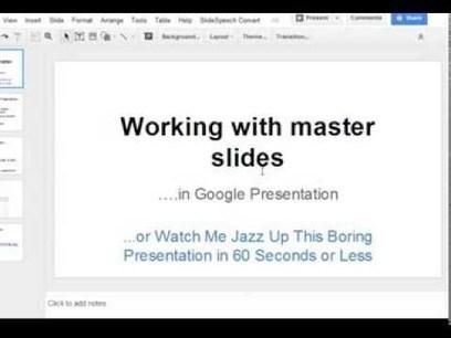 Google Apps Tutorial: How to use slide master in Google Presentation | Fremlæggelser-Gode online værktøjer | Scoop.it