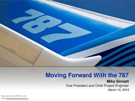 Moving Forward With the 787, Energy | wesrch | Scoop.it