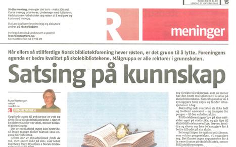 - Lytt til Norsk Bibliotekforening! - NORSK BIBLIOTEKFORENING   Skolebibliotek   Scoop.it