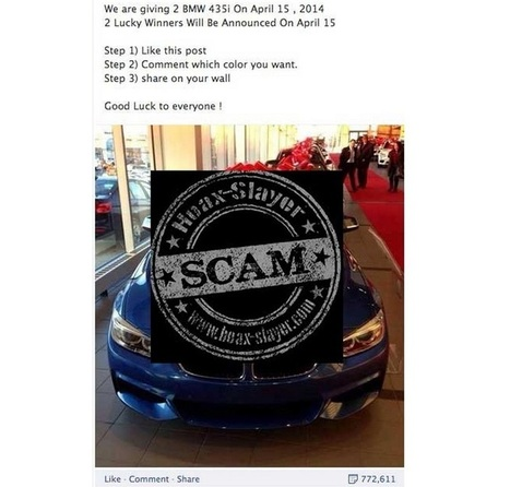 Scammers Promise BMW 435i to Harvest Facebook Likes | Social Media and its influence | Scoop.it