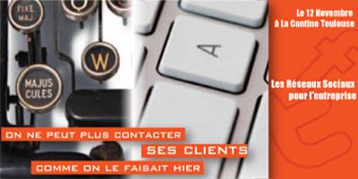 Les réseaux sociaux pour l'entreprise le12 novembre 2012 dès 9H30 à La Cantine Toulouse | La Cantine Toulouse | Scoop.it