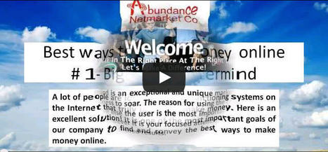 Best ways to make money online our youtube channel - Learn online and starting your business. | Abundance Netmarket Co - Recommend Good Opportunities - | Scoop.it