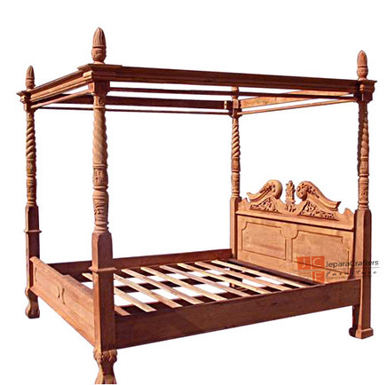 Teak Chippendale Beds four 4 poster hand carving - Jepara Indonesia handmade Furniture supplier, View Four poster Beds, TEAK BED CHIPPENDALE 4 POST Product Details from CV. JEPARA CRAFTER FURNITURE... | Teak wood furniture | Scoop.it