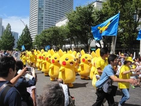 Pour la sortie du nouveau film Pokemon, 50 Pikachu géants envahissent le Japon | streetmarketing | Scoop.it