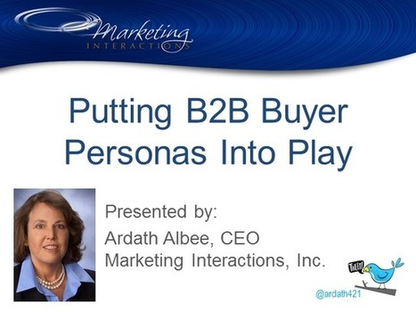 Putting B2B Buyer Personas Into Play | BrightTALK | Marketing.AI's Content Marketing | Scoop.it