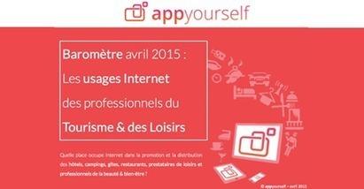 Baromètre Internet & les professionnels du Tourisme et Loisirs (AppYourself) | Outils webmarketing pour professionnels du tourisme | Scoop.it