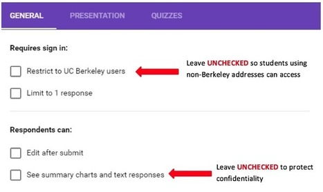Creating Google Forms | Berkeley Law | Using Google Drive in the classroom | Scoop.it