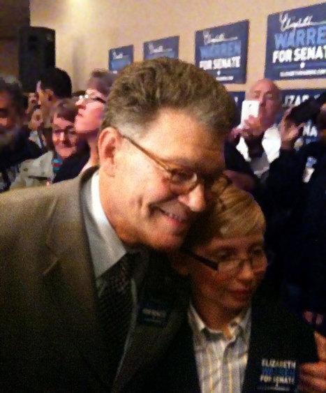 photo: Sen. @AlFranken at an event with Elizabeth Warren in Worcester, MA | Massachusetts Senate Race 2012 | Scoop.it