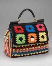 More Dolce & Gabbana Crochet Handbags — Crochet Concupiscence | Fiber Arts | Scoop.it