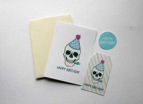 Free Skull Birthday Gift Tags   DIY & Design Freebies   Scoop.it