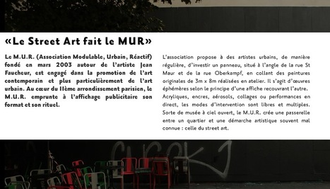 Association LE M.U.R Modulable Urbain Reactif renouvelle l'expérience du M.U.R. de l'Art | Digital #MediaArt(s) Numérique(s) | Scoop.it