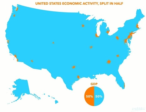Half Of US GDP Comes From The Orange Spots On This Map | Innovative Marketing and Crowdfunding | Scoop.it