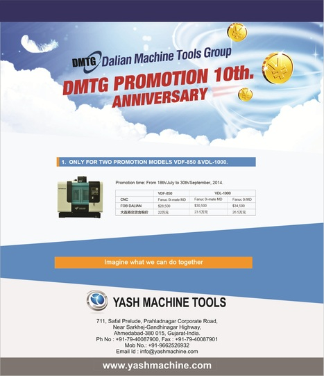 Celebrating 10th DMTG Promotional Anniversary   Lathe Machines   Scoop.it