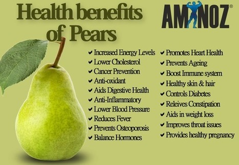 Health benefits of Pears | Aminoz Health and Sports Supplements | Scoop.it