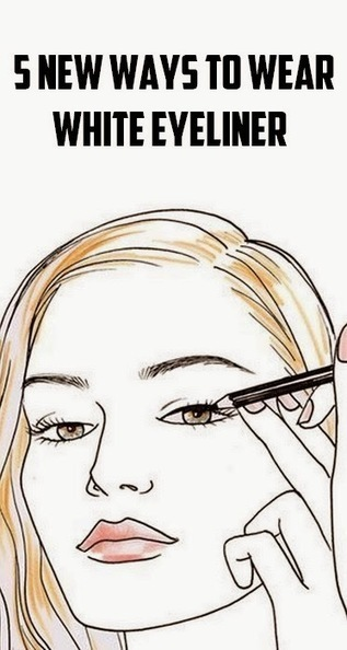 5 New Ways to Wear White Eyeliner #Beauty | Hairstyle Tutorials | Scoop.it