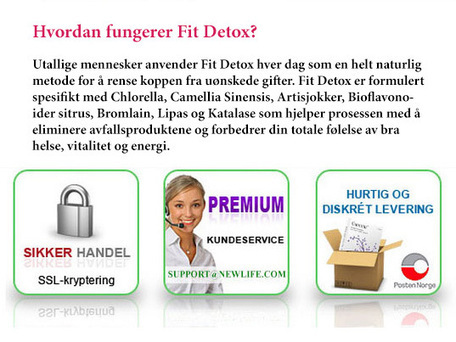 Fit Detox Anmelde – Krev din pakke nå! | Make way for your clean and healthy colons | Scoop.it