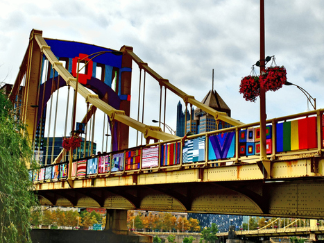 Pittsburgh Bridge Gets a 'Yarn Bomb' Makeover | TIME.com | Untold History: Pittsburgh Bridges | Scoop.it