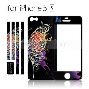 Luminous Embossed Painting Black Butterfly Screen Protector for Apple iPhone 5S Black - Witrigs.com | Do iphone 5s need screen protectors | Scoop.it