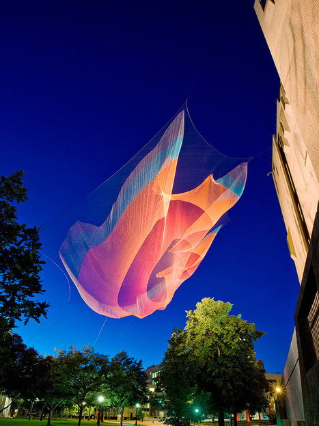 Giant Suspended Net Installations by Janet Echelman | TheWIP | Scoop.it