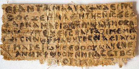 'Evangelie van Jezus' vrouw' is oud, maar bewijst zeker niet dat Jezus getrouwd was   Xander De Vos   Scoop.it