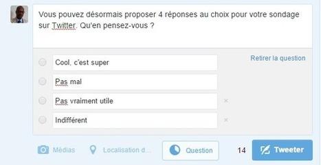 Twitter déploie officiellement son nouveau sondage à plusieurs choix - Arobasenet.com | Référencement internet | Scoop.it