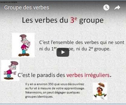 Groupes des verbes | school | Scoop.it