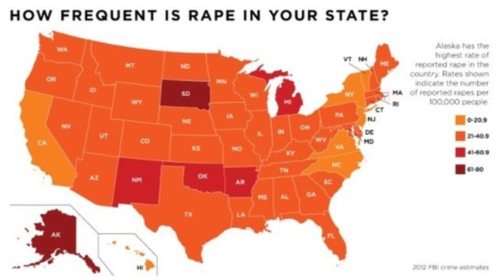List: States where rape is most common | Colorful Prism Of Racism | Scoop.it