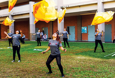 Students find escape through Color Guard | Courier | competitive colorguard  should be considered a sport | Scoop.it