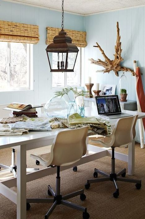 Trendy Home Offices That Are Surprisingly Functional | Designing Interiors | Scoop.it