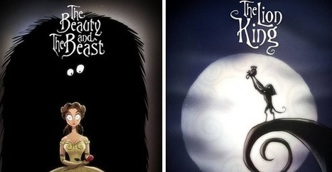 An Artist Reimagined Classic Disney Movies In Tim Burton's Style | Now that's creative! | Scoop.it