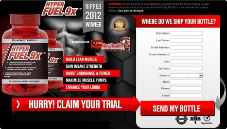Hyper Fuel 9x Pre-Workout Formula Reviews - Risk Free Trial Now | Boost Strength and Stamina Easily Now! | Scoop.it
