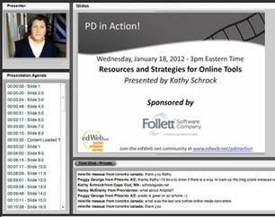 PD in Action with Kathy Schrock - Free webinar series starts Feb. 29, 2012 | School | Scoop.it