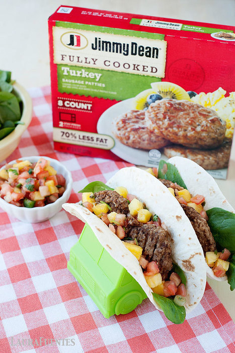 Quick Breakfast Tacos with Sausage, Pineapple Salsa & Spinach | ♨ Family & Food ♨ | Scoop.it