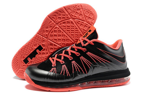 Nike LeBron 10 Low Black Total Crimson for Sale Buy Now | Fashion world! | Scoop.it